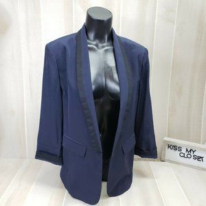 Express Women's Boyfriend Blazer Blue Sz 10
